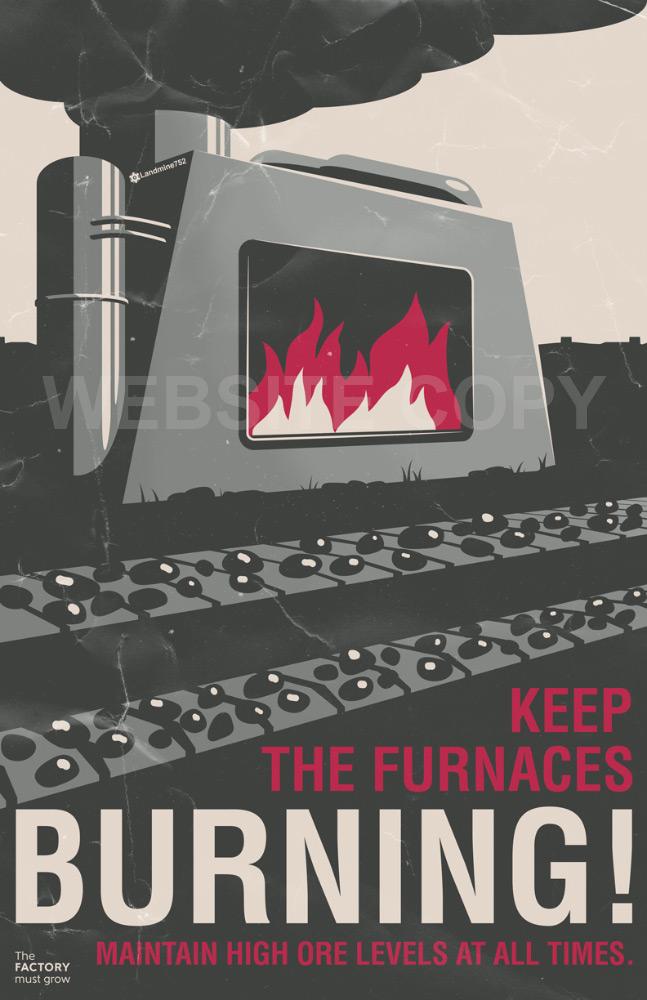 Furnaces Burning Poster